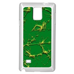 Thorny Abstract,green Samsung Galaxy Note 4 Case (White) by MoreColorsinLife