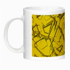 Thorny Abstract,golden Night Luminous Mugs by MoreColorsinLife
