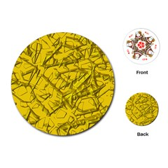 Thorny Abstract,golden Playing Cards (round)