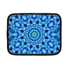 Blue Sea Jewel Mandala Netbook Case (small) by Zandiepants