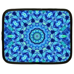 Blue Sea Jewel Mandala Netbook Case (xl) by Zandiepants