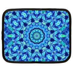 Blue Sea Jewel Mandala Netbook Case (xxl) by Zandiepants