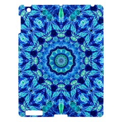 Blue Sea Jewel Mandala Apple Ipad 3/4 Hardshell Case by Zandiepants