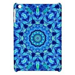 Blue Sea Jewel Mandala Apple Ipad Mini Hardshell Case by Zandiepants