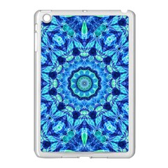 Blue Sea Jewel Mandala Apple Ipad Mini Case (white) by Zandiepants