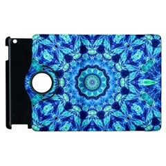Blue Sea Jewel Mandala Apple Ipad 2 Flip 360 Case by Zandiepants