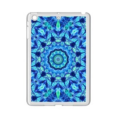 Blue Sea Jewel Mandala Apple Ipad Mini 2 Case (white) by Zandiepants