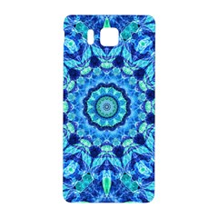 Blue Sea Jewel Mandala Samsung Galaxy Alpha Hardshell Back Case by Zandiepants