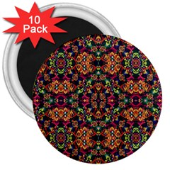 Luxury Boho Baroque 3  Magnets (10 Pack)  by dflcprints