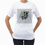 Recently Deceased Women s T-Shirt (White) (Two Sided)