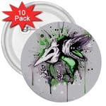 Recently Deceased 3  Buttons (10 pack)