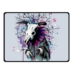 From Nature We Must Stray Double Sided Fleece Blanket (Small)  by lvbart