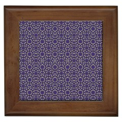 Stylized Floral Check Framed Tiles by dflcprints