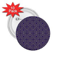 Stylized Floral Check 2 25  Buttons (10 Pack)  by dflcprints