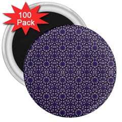 Stylized Floral Check 3  Magnets (100 Pack) by dflcprints
