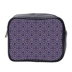 Stylized Floral Check Mini Toiletries Bag 2-Side Front