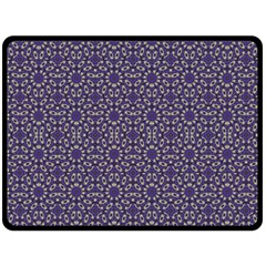 Stylized Floral Check Fleece Blanket (large)  by dflcprints
