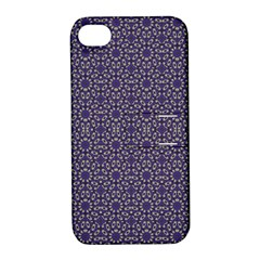 Stylized Floral Check Apple Iphone 4/4s Hardshell Case With Stand by dflcprints
