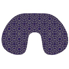 Stylized Floral Check Travel Neck Pillows by dflcprints