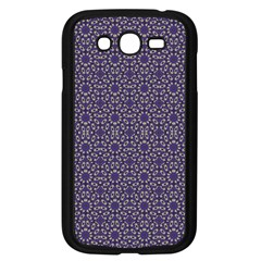 Stylized Floral Check Samsung Galaxy Grand Duos I9082 Case (black) by dflcprints
