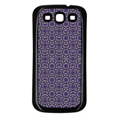 Stylized Floral Check Samsung Galaxy S3 Back Case (black) by dflcprints
