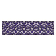 Stylized Floral Check Satin Scarf (oblong) by dflcprints