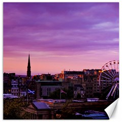 Edinburgh Sunset Canvas 12  X 12   by DeneWestUK
