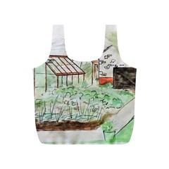 Watercolour Garden Full Print Recycle Bags (s)  by DeneWestUK