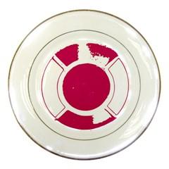 Pompey Lifesaver Porcelain Plates by DeneWestUK