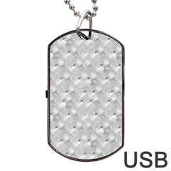 Ditsy Flowers Collage Dog Tag Usb Flash (one Side) by dflcprints