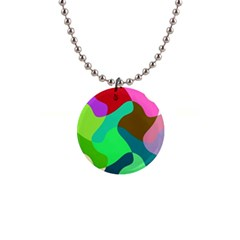 Retro Shapes                                   			1  Button Necklace by LalyLauraFLM