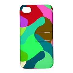 Retro Shapes                                   apple Iphone 4/4s Hardshell Case With Stand by LalyLauraFLM