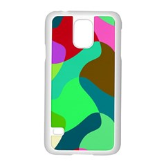 Retro Shapes                                   			samsung Galaxy S5 Case (white) by LalyLauraFLM