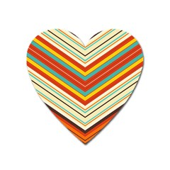 Bent Stripes                                    			magnet (heart) by LalyLauraFLM