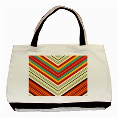 Bent Stripes                                    			basic Tote Bag by LalyLauraFLM
