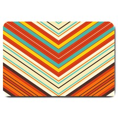Bent Stripes                                    			large Doormat by LalyLauraFLM