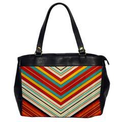Bent Stripes                                    			oversize Office Handbag by LalyLauraFLM