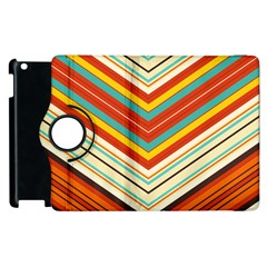 Bent Stripes                                    			apple Ipad 2 Flip 360 Case by LalyLauraFLM