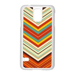 Bent Stripes                                    samsung Galaxy S5 Case (white) by LalyLauraFLM