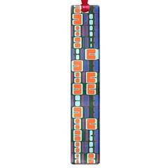 4 Colors Shapes                                    			large Book Mark by LalyLauraFLM