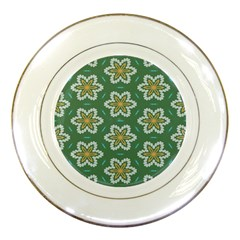 Yellow Flowers Pattern                                    porcelain Plate by LalyLauraFLM