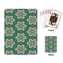 Yellow Flowers Pattern                                    playing Cards Single Design by LalyLauraFLM