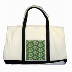 Yellow Flowers Pattern                                    two Tone Tote Bag by LalyLauraFLM