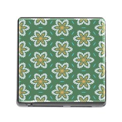 Yellow Flowers Pattern                                    			memory Card Reader (square) by LalyLauraFLM