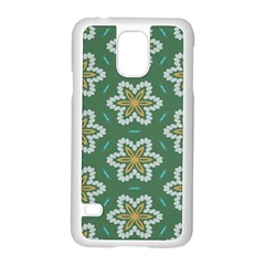 Yellow Flowers Pattern                                    samsung Galaxy S5 Case (white) by LalyLauraFLM