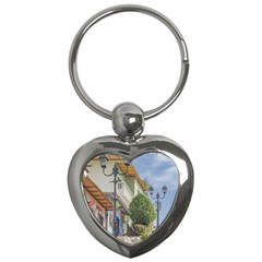 Cerro Santa Ana Guayaquil Ecuador Key Chains (heart)  by dflcprints