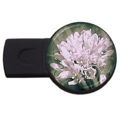 White Flower Usb Flash Drive Round (2 Gb)  by uniquedesignsbycassie
