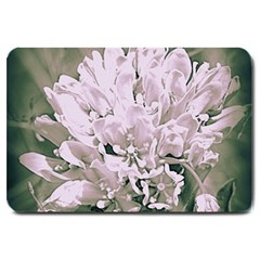 White Flower Large Doormat  by uniquedesignsbycassie