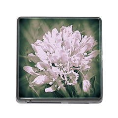 White Flower Memory Card Reader (Square) by uniquedesignsbycassie