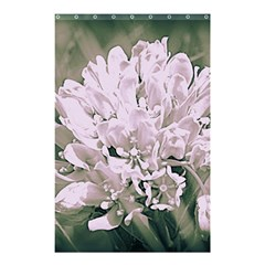 White Flower Shower Curtain 48  X 72  (small)  by uniquedesignsbycassie
